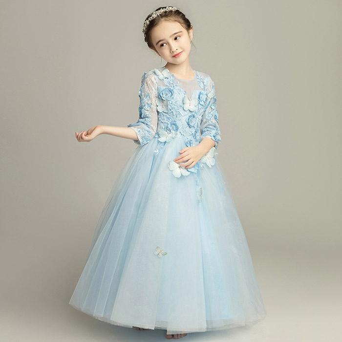 c8cb04b412df3 ワンピース 子供ドレス ファスナータイプ 女の子 ロング.